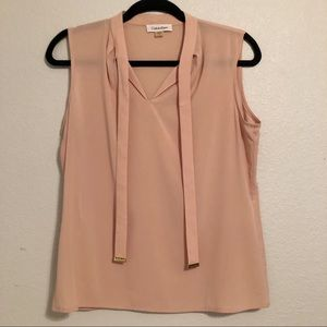 Calvin Klein Blush Sleeveless Blouse